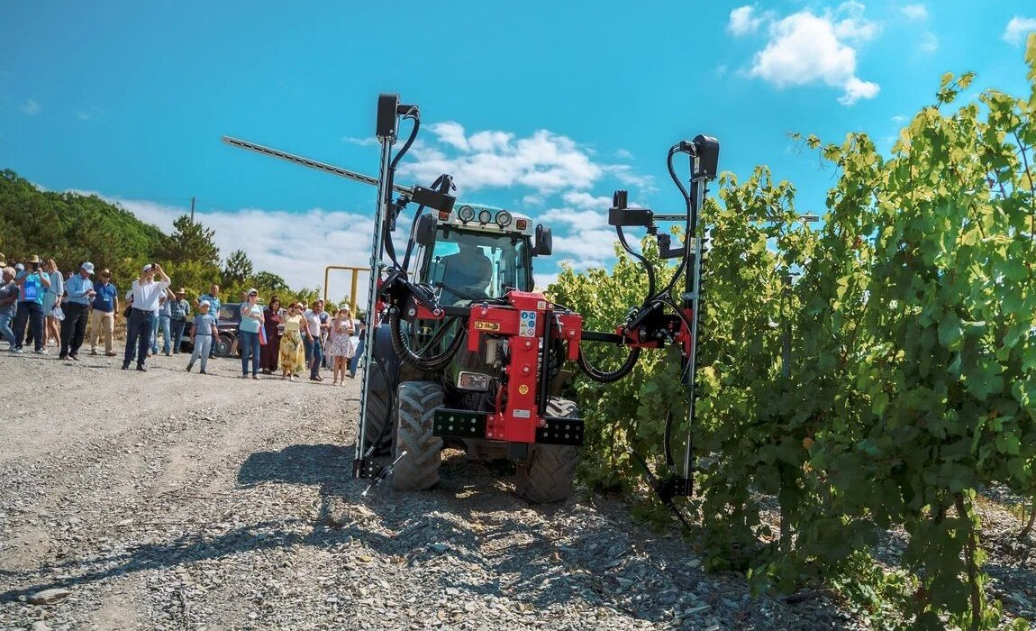 Modern wine making equipments showed in the Kuban