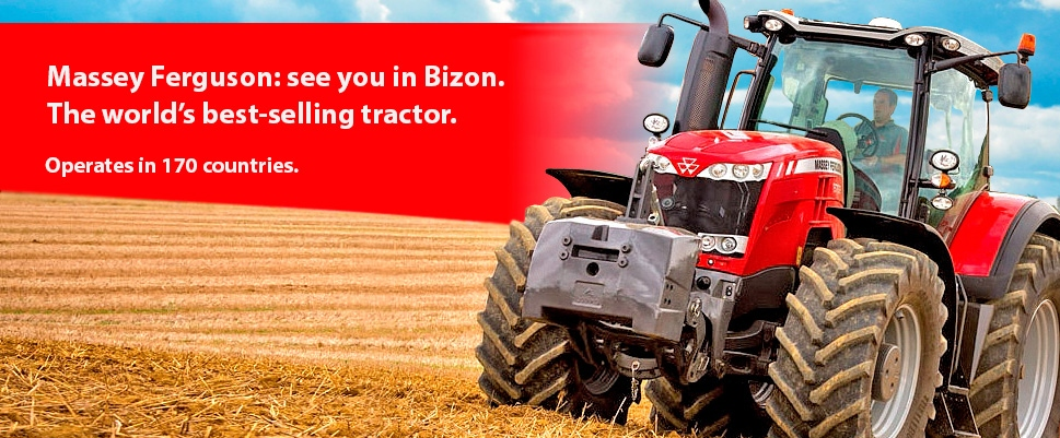 Massey Ferguson: See you in Bizon.<br /> The best seller tractor in the world now in the South of Russia.